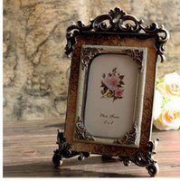 Il migliore New European Retro Resin Photo Frames Vintage 6 pollici Photo Frame Desk Decorazione regalo per le donne