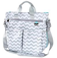 Оптовая серый шеврон многофункциональный пеленки сумка для девочек мальчиков, меняя коврик премиум дизайнер пеленки сумки для мамы и папы бесплатная доставка