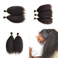 Capelli malesi Kinky capelli lisci all'ingrosso per intrecciare 3 pacchi di seta liscia capelli lisci colore naturale può essere tinti FDSHINE