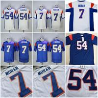 Nuevos llegados. Malla azul   54 Kevin Thad Castle Jersey   7 Alex Moran  jersey personalizada 2017 hombres baratos blanco