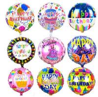 18 дюймов Глобус с Днем Рождения фольга шары дети День Рождения надувные игрушки баллоны гелий воздушный шар украшения партии
