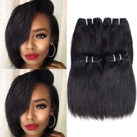 Straight Brazilian Hair 4PCS 50g Virgin Unprocessed Human Ha...