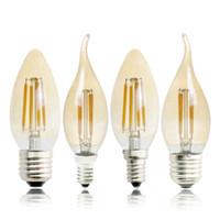Edison2011 Е27 Е14 Е12 Е17 2Вт 4Вт 6Вт 220В 110В С35 затемнения ретро накаливания светодиодная лампа свеча лампа люстра ночник