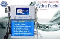 5 in 1 Hydra aqua soyma yüz radyofrekans biyo mikro akım sprey su oksijen yüz derin temizlik yüz germe cilt gençleştirme
