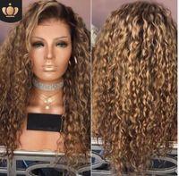 Avrupa ve Amerikan sıcak yeni peruk, Afrika siyah siyahlar, küçük kıvırcık saçlı, kahverengi uzun kıvırcık saç boyalı kimyasal elyaf saç setleri.