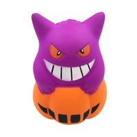 kawaii Squishy Jumbo 12cm Halloween Pumpkin Devil Squishy Sl...