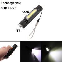 Portable Torch Mini Flashlight USB Led Hand Torch COB LED Pe...