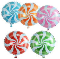 10pcs lot colorful candy foil balloons 18 inch round lollipo...