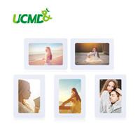 Cadre photo magnétique aimants réfrigérateur Réfrigérateur Décor Flexible Cadres Cadres Carrés Multicolores 5 Pcs / Lot