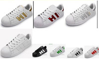 Venta caliente chaussures holographiques Modo Hommes Chaussures Casual Superstar Femmes Cestas Femmes Zapatillas Deportivas Mujer
