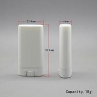 1000 adet 15g Plastik Boş DIY Oval Dudak Balsamı Tüpler Taşınabilir Deodorant Konteynerler Temizle Beyaz Ruj Moda Serin Dudak tüpleri lin3244