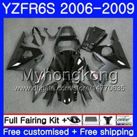Lichaam voor Yamaha YZF R6 S R 6S YZF600 YZFR6S voorraad Zwart Frame 06 07 08 09 231hm.2 YZF-600 YZF R6S YZF-R6S 2006 2007 2008 2009 FACKINGS KIT