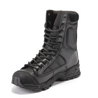 Army Boots Men Black Leather Desert Combat Work Shoes Winter...