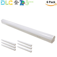 4FT 40W LED Linjär Strip Light Damp fixture Low Bay [60-120W Fluorescerande ekvivalent] Round Tube Design 5000LM 5000K Daylight UL DLC (6 Pack)
