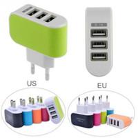 미국 EU 플러그 3 USB 벽 충전기 5V 3.1A LED 어댑터 여행 HTC 휴대 전화에 대 한 트리플 USB 포트와 편리한 전원 어댑터