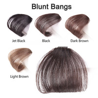 Z&F 100% Human Handmade No Sideburns Fringe Blunt Bangs With...
