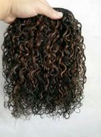 البرازيلي العذراء الإنسان ريمي الشعر الأسود الطبيعي 1b # / متوسطة براون 4 # لحمة الشعر ملحقات الشعر البشري ضعف الانتباه