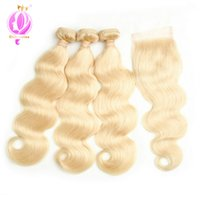 Brazilian 613 Blonde Hair Weave Bundles With Closure Honey B...