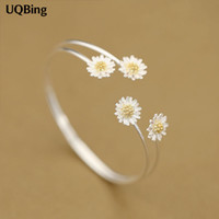 whole saleFashion Beautiful 925 Sterling Silver Daisy Flower...