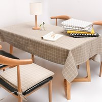 Plaid Table Cloth Coustomize Size Table Cover Fashion Cottonu0026Linen  Decorative Coffee Tablecloth BH18024