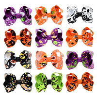 Halloween Kids Head Hairband Bowknot Festival di Natale Cartoon Stampa Cut Bambini Barrettes dei capelli Kindgarten School Party Hair Pins Baby