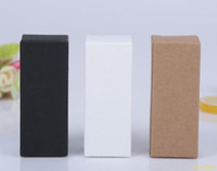 5000pcs 10 size Black white Kraft Paper cardboard box Lipsti...
