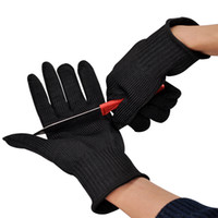 Guanti di sicurezza in filo di acciaio inossidabile con una coppia di guanti antitaglio da lavoro antitaglio