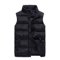 6XL Plus Größe Sleeveless Jacke Weste Männer 2018 Neue Solid Frauen Puffer Weste Cotton-Padded Wintermantel Casual Male Vest Zipper