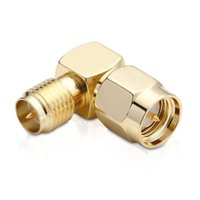 SMA Connector 90 Degree Right Angle SMA Male To RP SMA Female Adapter Screw The Needle