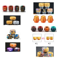 810 Thread Honeycomb Snake Skin Epoxy Resin Drip Tips PEI Dr...