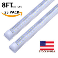 Cooler Door LED Tube V 8FT a forma di 4FT 5FT 6FT 8 Feet LED T8 52W 72W Double Side Integrated Fluorescent Lamp