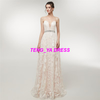 2018 Heavy Work Sexy Glaring Embroidery Beaded Strapless A L...