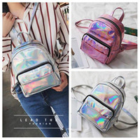 New Fashion Hologram Laser Backpack Pink Silver Waterproof F...