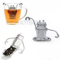 Stainless Steel Robot Tea Infuser Rocket Monkey Shaped Loose...