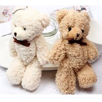 New Joint Teddy Bears  New High Quality Stuffed Plush Soft Mini 14CM Bear Plush Pendant Gifts Christmas Wedding Gifts