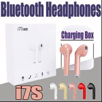 Cuffie Bluetooth TWS AA I7S con caricabatterie Twins Cuffie auricolari wireless per iPhone X IOS iPhone Android Samsung con imballaggio al dettaglio