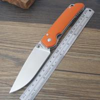 Y-START Jin01-OR Couteau pliant Tactical Survie en plein air Camping Bushcraft Couteau de poche Liner Lock D2 Blade G10 Poignée