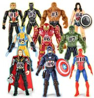 10 Styles The Avengers PVC Action Figures Heros 15cm Iron Ma...