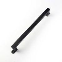 Kinmade 검은 강철 단면 사각형 당김 핸들 헛간 문 하드웨어 게이트 차고에 대한 소박한 디자인