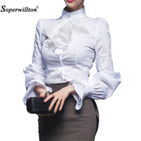 New 2017 Quality Spring Autumn Women Blouse Ladies White Off...