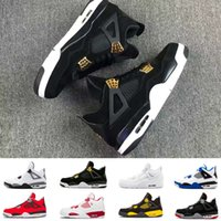 2018 4 IV 4s Basketball Shoes Men Black Cat bred Fire Red Wh...