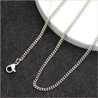 Factory Price Wholesale Stainless Steel Side Chain Necklace ...