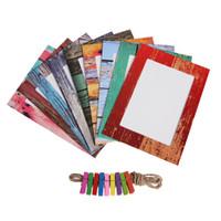 7 بوصة مزيج جدار إطار الصورة diy صور جدار الإبداعية الخشب إطار ورقة معلقة ألبوم الديكور المنزل مع خشبي المشبك E5M1