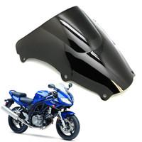 Ny motorcykel abs vindrutesköld för SUZUKI SV650 SV1000 2003-2009 Svart