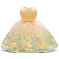 Girl Dress 2020 vestido floral do bebê Princesa Batismo vestidos para meninas 1ª festa de aniversário do Ano Casamento Batizado criança Roupa infantil
