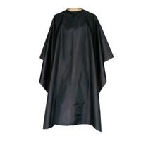 Profissionais à prova d 'água resistente nylon xales capcut cap cabelo 59 polegada x 55 polegada capa preta com um fecho de pressão
