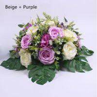 Estrada Levou Rose Flor Com Folha de Tartaruga Flores Do Casamento Adorno de Chumbo Estrada Roman Centerpiece Decoração de Casa 6 Cores