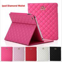 Luxus Diamant Leder Brieftasche Stand Fall Smart Cover Für Neue iPad 2017 2 3 4 5 6 Ipad Air2 3 Mini4