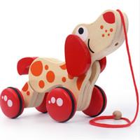 Dragagem De Madeira Do Carro Do Carro Tractores Filhote de Cachorro Crocodilo Forma Crianças Enigma Do Bebê Da Primeira Infância Educacional Diecasts Brinquedos Veículos