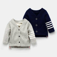 baby spring autumn children England style cardigan Boys girl...